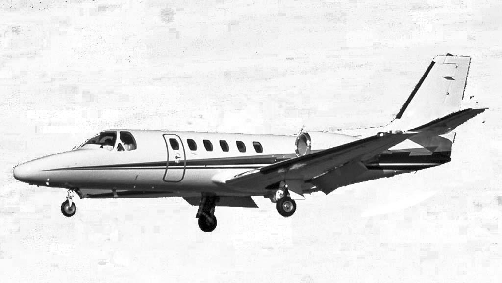 Citation 550 Bravo mit einer Reichweite von bis zu 2.778 Kilometern und Platz für einen Intensivpatienten