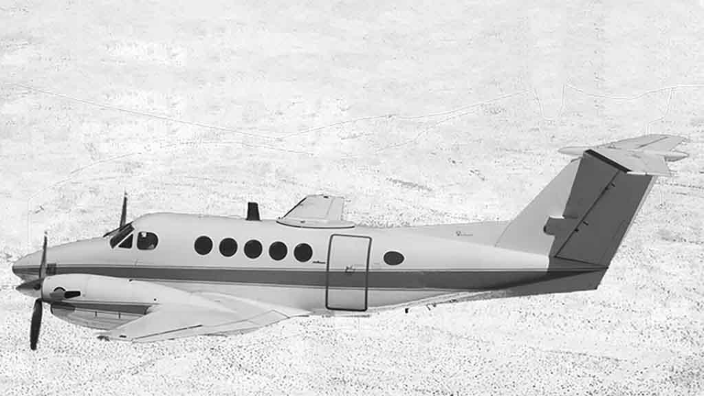 King Air 200 mit einer Reichweite von bis zu 2.500 Kilometern und Platz für einen Intensivpatienten