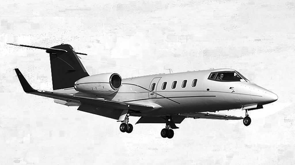Learjet 55 mit einer Reichweite von bis zu 3.900 Kilometern und Platz für einen Intensivpatienten