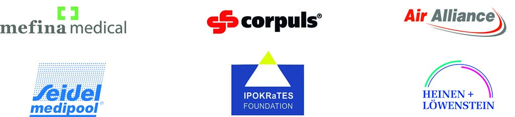 These are the company logos of Pediatric Air Ambulances cooperation partners.